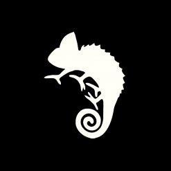 ChameleonFarm Cham Sticker Kaméleon matrica | Fehér