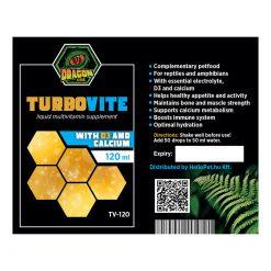 DragonOne TurboVite Folyékony multivitamin + D3 és kalcium   120 ml