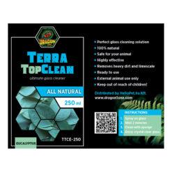 DragonOne TerraTopClean Természetes üvegtisztító spray - eukaliptusz   250 ml