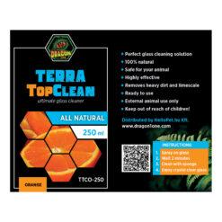 DragonOne TerraTopClean Természetes üvegtisztító spray - narancs   250 ml