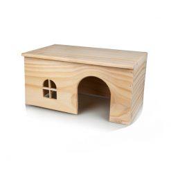 GigaMouse Nibble Wooden House Faház rágcsáló búvóhely   L