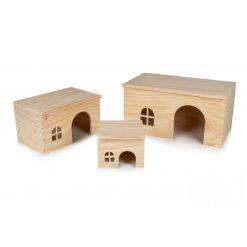 GigaMouse Nibble Wooden House Faház rágcsáló búvóhelyek