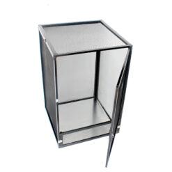 Nomoy Pet Aluminium Cage Hálós terrárium hüllőknek - fekete