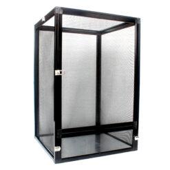 Nomoy Pet Aluminium Cage Hálós terrárium hüllőknek - fekete | L