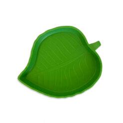 Nomoy Pet Green Leaf Feeding Dish Zöld levél etetőtál | L