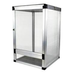 Nomoy Pet Aluminium Cage Hálós terrárium hüllőknek - ezüst | L
