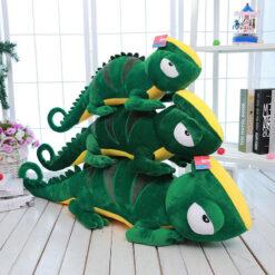 ChameleonFarm Zöld-sárga óriás plüss kaméleon